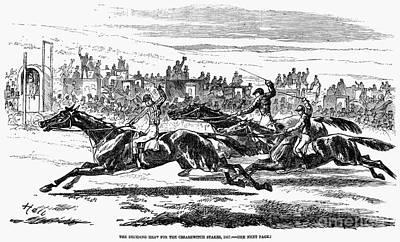 Horse Racing, 1857 Print by Granger