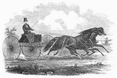 Horse Racing, 1862 Print by Granger