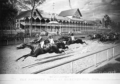 Horse Racing, 1889 Print by Granger