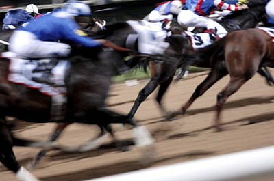 Steeplechase Race Photograph - Horse Racing by Johnny Greig