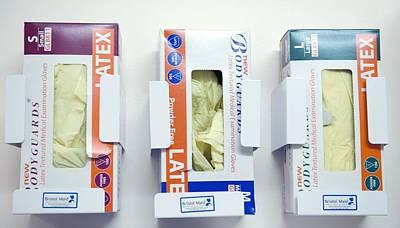 Hospital Latex Gloves Print by Lth Nhs Trust
