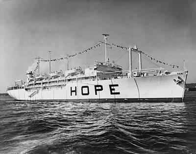 Hospital Ship, S.s. Hope , 15,000-ton Print by Everett