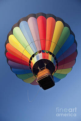 Hot Air Balloon In Flight Print by Bryan Mullennix