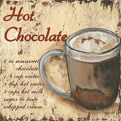 Rustic Painting - Hot Chocolate by Debbie DeWitt