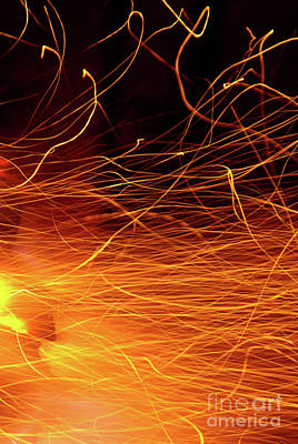 Blacksmiths Photograph - Hot Sparks by Carlos Caetano