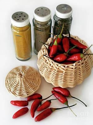 Chili Photograph - Hot Spice by Carlos Caetano