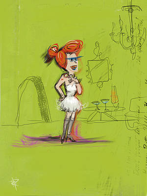 Hot Wilma Print by Russell Pierce
