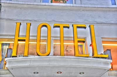 Hamburg Digital Art - Hotel by Barry R Jones Jr