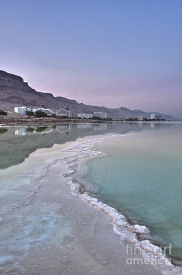Hotel On The Shore Of The Dead Sea Print by Noam Armonn