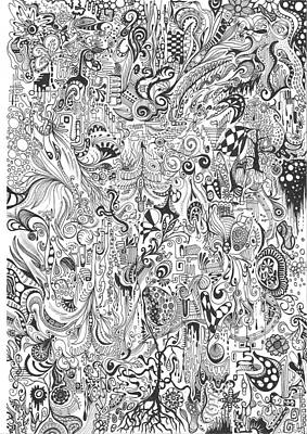 Hours Of Doodling Print by Carol McLagan