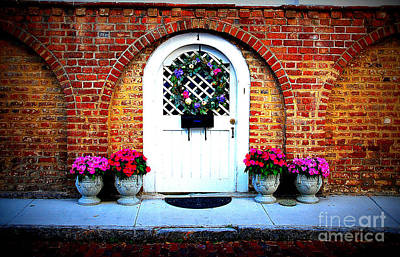 Flower Photograph - House Door 10 In Charleston Sc  by Susanne Van Hulst
