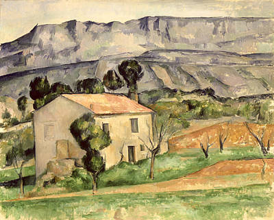 Mountain Valley Painting - House In Provence by Paul Cezanne