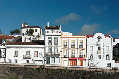 Houses In Ponta Delgada Print by Gaspar Avila