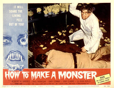 How To Make A Monster, Dennis Cross Print by Everett