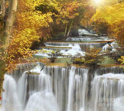 Huai Mae Kamin Waterfall Original by Anek Suwannaphoom