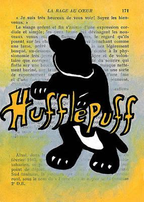 Icon Drawing - Hufflepuff Badger by Jera Sky