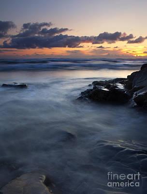 Hug Point Sunset Print by Mike  Dawson