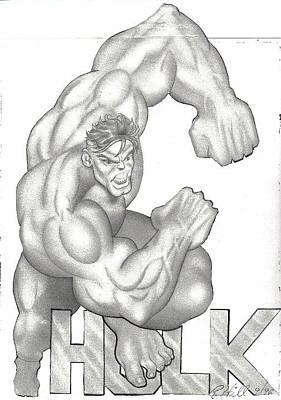 Tattoo Stencils Drawing - Hulk by Rick Hill