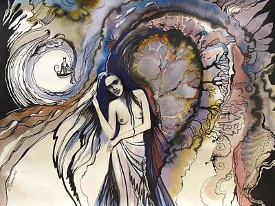 Concept Art Inks Drawing - Humgat by Valentina Plishchina