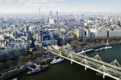 Britain Photograph - Hungerford Bridge Seen From London Eye by Elena Elisseeva