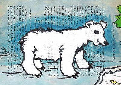 Igloo Painting - Hungry Polar Bear by Jera Sky