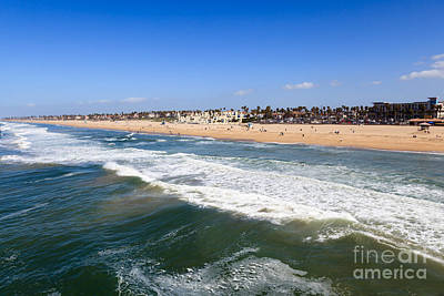 Townhouses Photograph - Huntington Beach Orange County California by Paul Velgos