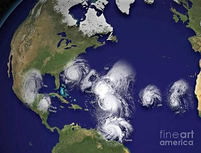 Noaa Photograph - Hurricanes In 2010 by Padre Art