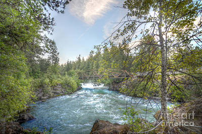 White Salmon River Photograph - Husum Falls At Dusk by Kevin Felts