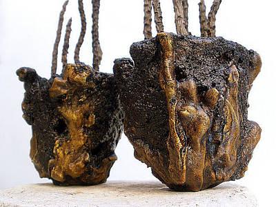 Hypertufa Sculpture - Hypertufa Primitive Pottery Sculptures - Sold by Randy Stewart