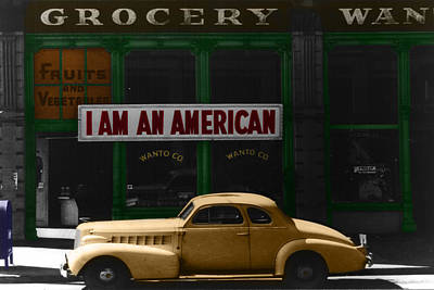 I Am An American Print by Andrew Fare