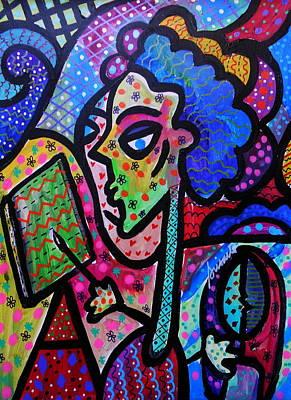 Folk Painting - I Am An Artist by Pristine Cartera Turkus