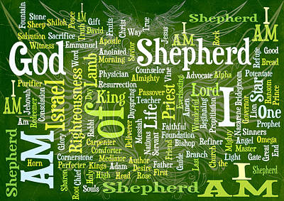 Root Of Mixed Media - I Am Shepherd by Angelina Vick