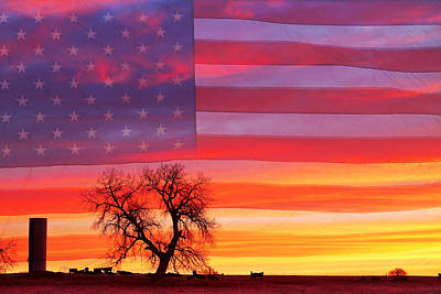 Flags Photograph - I Am Thankful To Be An American by James BO  Insogna