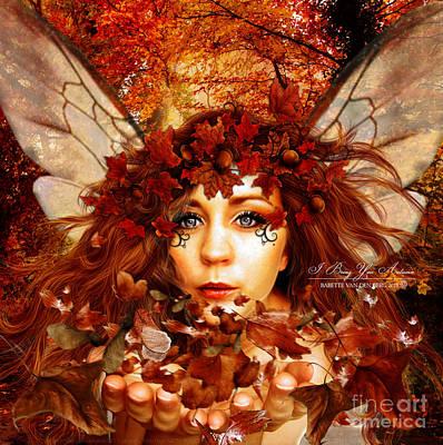 Acorn Digital Art - I Bring You Autumn by Babette Van den Berg