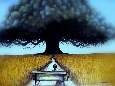 I Looked At The Abandoned Tree And I Not Saw Nests Neither Birds Print by Paulo Zerbato