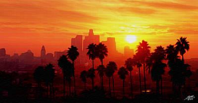 I Love L.a. Print by Steve Huang