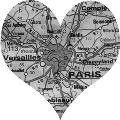 I Love Paris In Black And White Print by Georgia Fowler