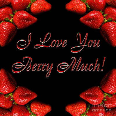 I Love You Berry Much Print by Andee Design