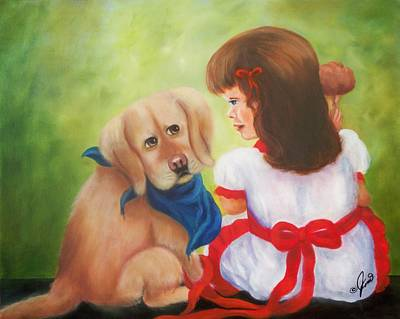 Children Painting - I Thought I Was Your Best Friend by Joni McPherson