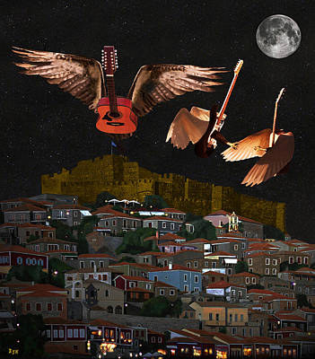 Flying Guitars Digital Art - I Wanna Dance With Somebody by Eric Kempson