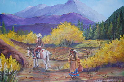 Rawhide Painting - I Want To Go Home by Janna Columbus