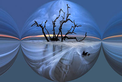 Abstract Digital Art Photograph - I Would Go To The Ends Of The Earth For You by Debra and Dave Vanderlaan