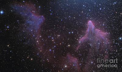 Ic Images Photograph - Ic 59 And Ic 63 Near Gamma Cas by Ken Crawford