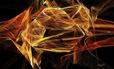 Digital Digital Art - Ice by Barry Jones