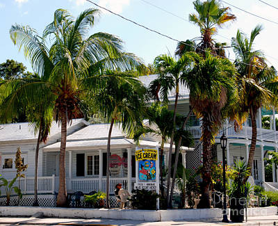 Ice Creme Shop On Duval Key West Print by Susanne Van Hulst