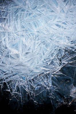 Ice Crystal Patterns Print by Skye Hohmann