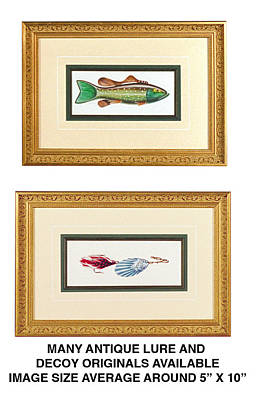 Ice Fishing Decoys Print by JQ Licensing