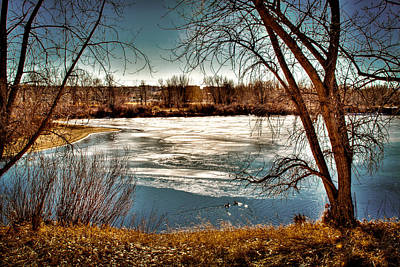 Ice On Eaglewatch Lake II Print by David Patterson