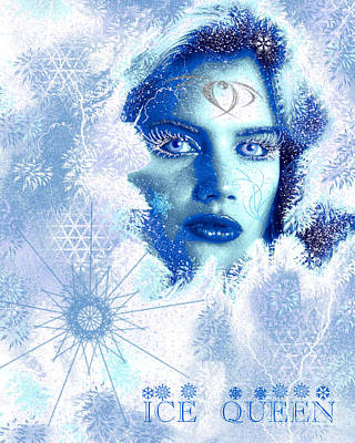Ice Queen Print by Methune Hively