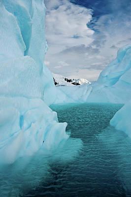 Antarctica Photograph - Iceberg Lagoon by Duane Miller